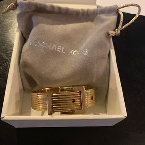 MK Gold buckle bangle bracelet